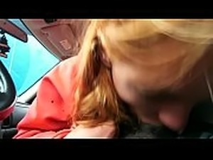 Young teen runaway Amber g gives blowjob to black man trying again to go home...