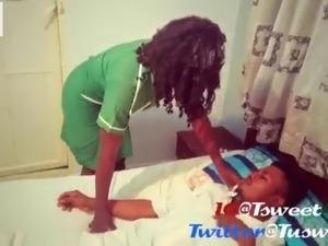 Slutty Nurse Bambi fucks her big dick patient and swallows his cum(Raw fuck)