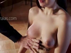 Tattooed slut breast tortured