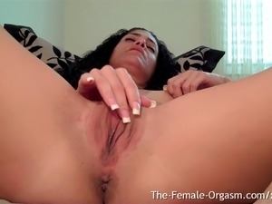 Horny Girl At Home Edges Dripping Wet Pussy To Strong Orgasm