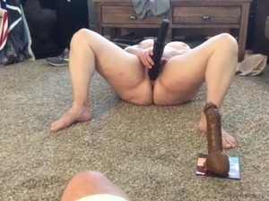 BBW mom with hairy pussy BBC fantasy with vibrator