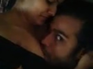 Indian couple kissing and licking pussy