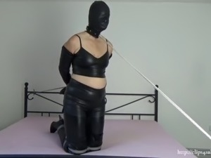 My amateur bondage, September 18, 2020: Leather and bondage hood