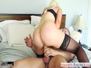 Busty blonde Nikki Benz take cock free