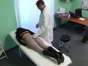 Pint sized patient getting fingered by her doctor