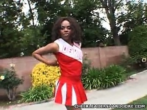 Clit Buffing Ebony Cheerleader