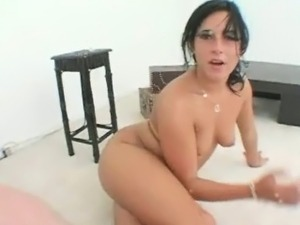 Sexy brunette girl goes crazy sucking part6