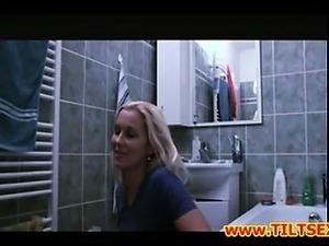 Milf fucks with plumber in bath