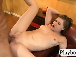 Perky tits cheerleader sucks and reamed