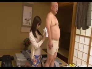 AzHotPorn.com - Nursing and Giving Pleasure To Old Men 2 free