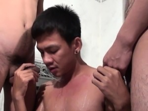 Asian twinks piss n fuck