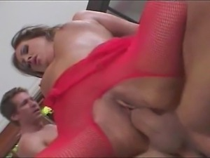 Hot slut must handle three guys. They ravished her holes badly as they double...