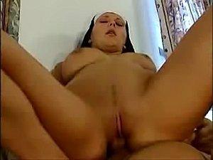 Big tit nun gets fucked