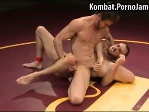 Guys end up wrestling naked