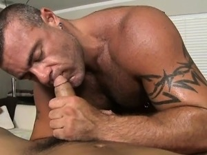 Unfathomable oral-service for gay boy