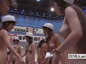 Subtitled Japanese nudists mouth to mouth CPR seminar