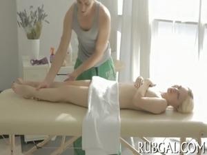 Teenie sucks 10-pounder during massage free