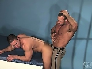 Marc Dylan gets a good pounding by a highway patrol officer