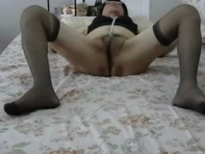 Watch me masturbate as I drag a steel chain back and forth along my wet slit....