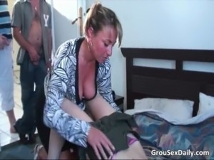 These horny sluts are fucked in group free