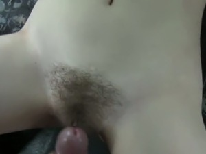 Hairy cunt British amateur fucks in fake taxi