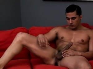 Jock sexily massages his big rod