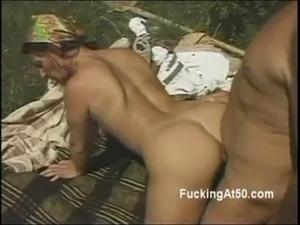 Hot ass 50yo woman fucks husband doggystyle outdoors free