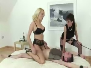 Hot fetish mature babes dominate loser free