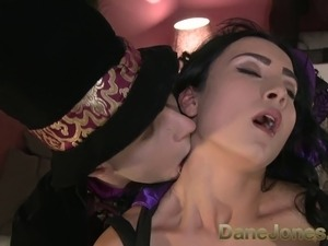 DaneJones Sinful raven haired babe summons Halloween lover to pleasure her...