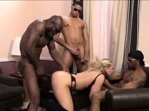 Huge hooters mature Angel Allwood wrecked by black men