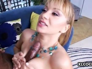 Lea Lexis enjoys interracial sex