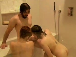 Horny couples have fun in the swingers mansions pool