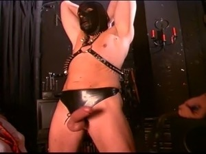 Kinky latex couple seduced and fucked   girl