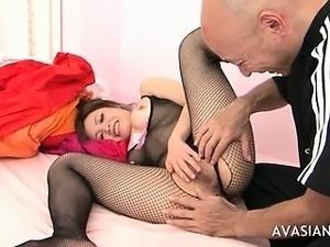 Older Guy Seduces Young Asian Schoolgirl