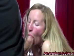 Blonde real amateur amsterdam hooker gets fucked after bj