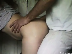 Wife Has Quickie From Behind