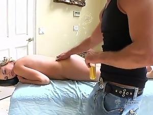 Beautiful blonde pornstar Katie Kox strips