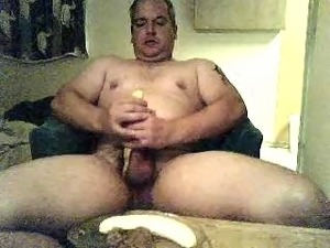 Suck two bananas, fuck and suck them, use the peels to stroke my cut cock and...