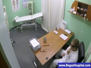 Topless patient fingered by horny doctor free