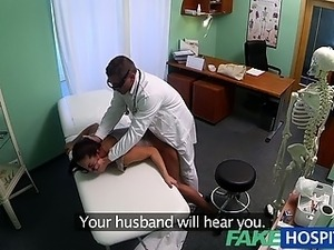 FakeHospital Dirty milf sex addict gets fucked by the doctor while her...