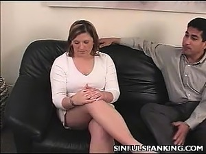 Hot Over The Knee Spanking