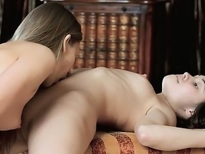 blond couple from Spain enjoy art sex