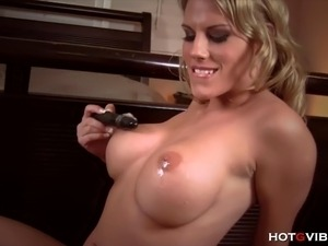 Blonde, busty beach babe, Charisma  Cappelli, sucks her big tits and tickles...
