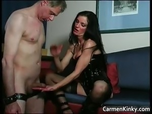 Kinky and weird dark head slut tied dude part5