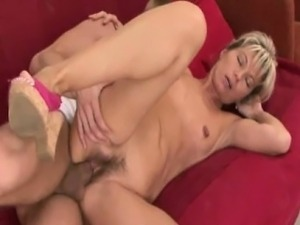Nela - Matured Euro Wrinkled Pussy Fucked By A Young Cock