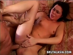 Impeccable Asian chick has her delicious pussy licked by a horny bloke. She...