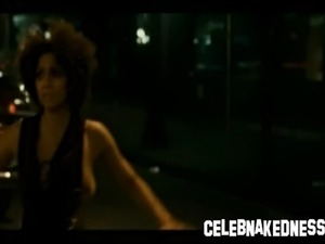 No Sound: Celeb Halle Berry nude with big breasts black ebony