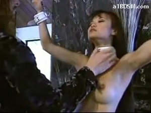 Asian Girl Tied Legs And Arms Spanked Whipped Nipple Vacums Pussy Stimulated...