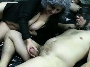 Dirty granny loves having kinky sex part3