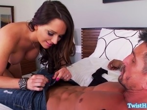 Busty pornstar Destiny Dixon gets her sweet pussy licked at home